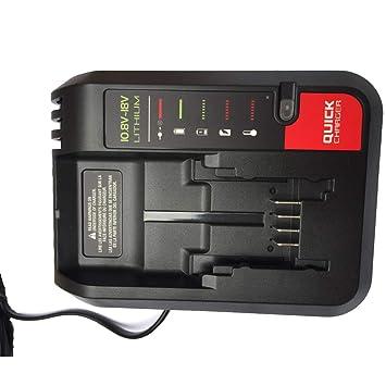 Cargador de batería de repuesto para Black Decker para Stanley para Porter-cable batería de iones de litio 10.8V-20V BDCAC202 PCC692L LB20 LBXR20: ...