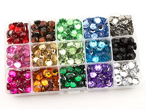Assorted Rhinestone - Summer-Ray 10mm Assorted Color Rhinestones In Storage Box Value Pack