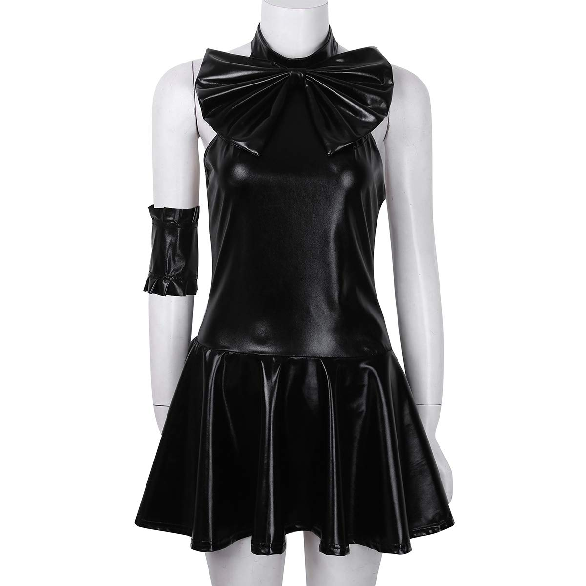 Amazon.com: FEESHOW Womens Wet Look Leather Sailor Moon ...