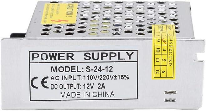 Wendry Interruptor de Impresora 3D, S-24-12 12V 25W Accesorios ...