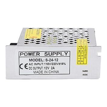 Wendry Interruptor de Impresora 3D, S-24-12 12V 25W Accesorios de ...