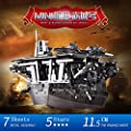 MU 3D Metal Puzzle Janpan Mini Aircraft Carriers Akagi Building Model Kit YM-N018-S DIY 3D Laser Cut Assemble Jigsaw Toys For Audit