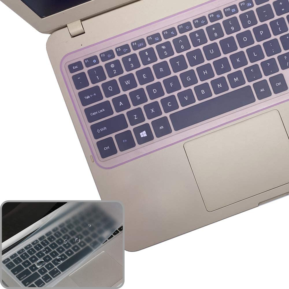2 Pcs Universal Silicone Keyboard Protector Skin for Laptop Notebook 13.3 Inch /14 Inch Without Numeric Keypad Laptop (12.5 Inch x 5.35 Inch)