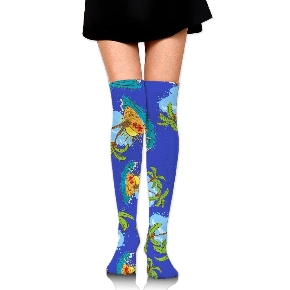 Amazon Sea Wave On Tides Womens Knee Leg Long Socks Warmer