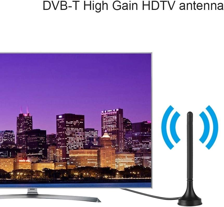 Indoor HDTV Antenna Digital DVB-T Indoor HDTV Car Antenna UHF//VHF Dual Band Magnetic Base 10DB
