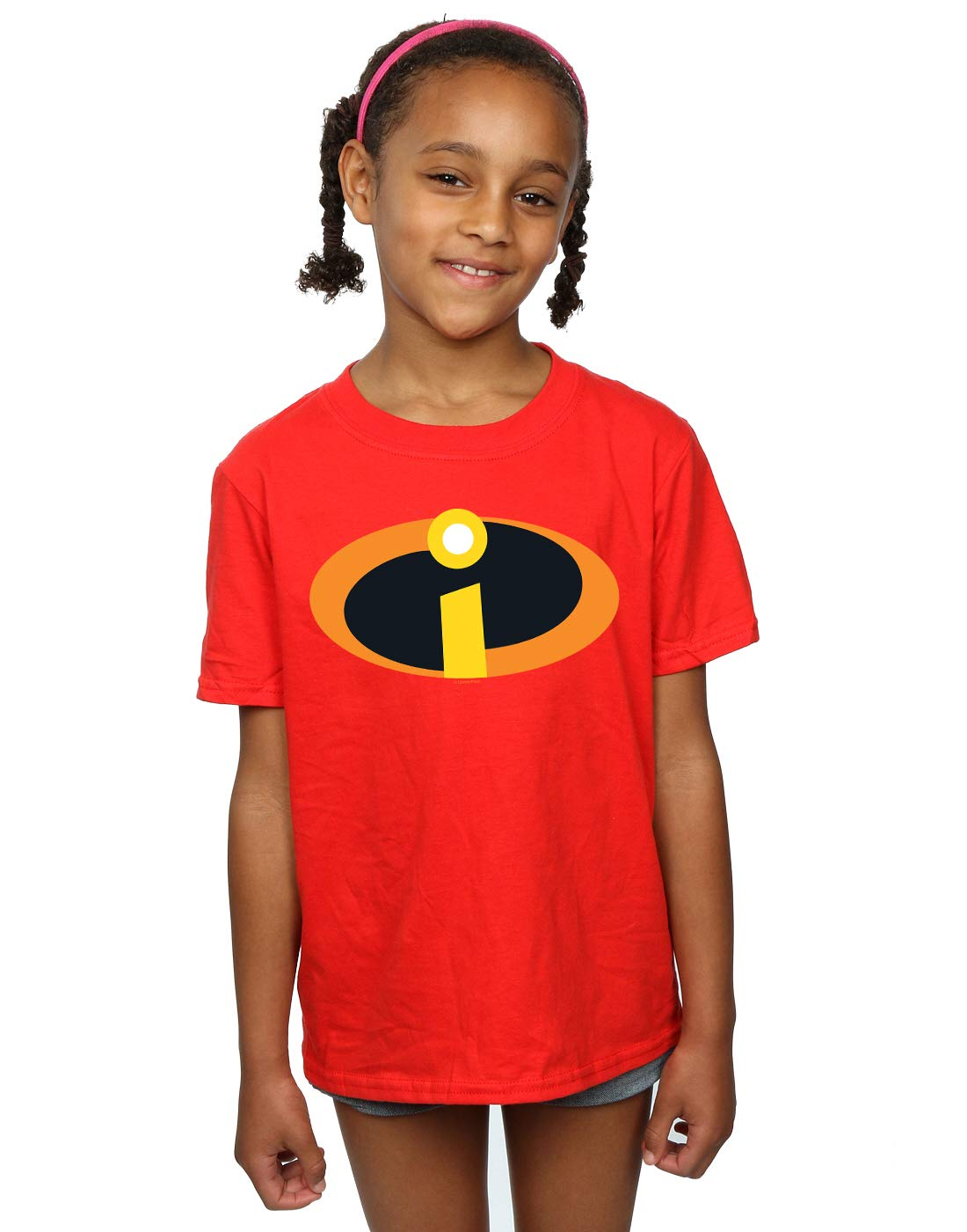 Disney Girls The Incredibles 2 Costume Logo T-Shirt Absolute Cult
