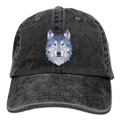 Dogquxio The Head Of The Geometric Animal Wolf Denim Baseball Caps Hat Adjustable Cotton Sport Strap Cap For Men Women - Cap Ford Tom