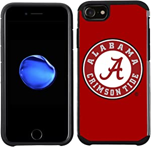 Prime Brands Group Textured Team Color Cell Phone Case for Apple iPhone 8/7/6S/6 - NCAA Licensed The University of Alabama Crimson Tide (NCAA-TX1-i8-UA)