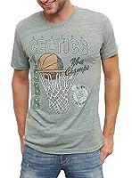 Junk Food 1986 Boston Celtics NBA Champs Light Hunter Heather Mens T-shirt