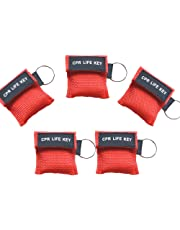 Healsmile® 10 Packs Emergency CPR Face Shield Mask First Aid Keychain Key Ring Resuscitator