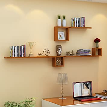 Wandrega- Massivholzfarbe Wandregal für Wohnzimmer ...