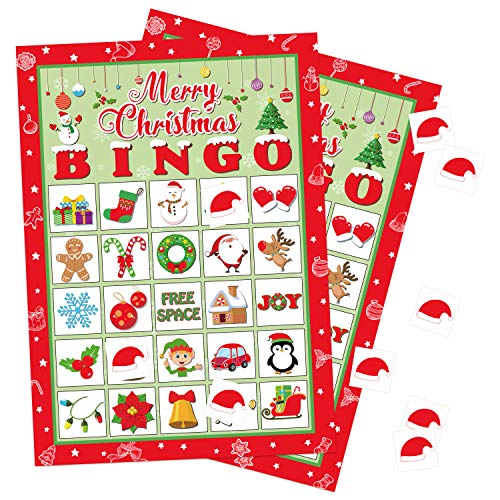 Christmas Bingo Game Xmas/Holiday/Winter Party Supplies/Favors 24 Players -