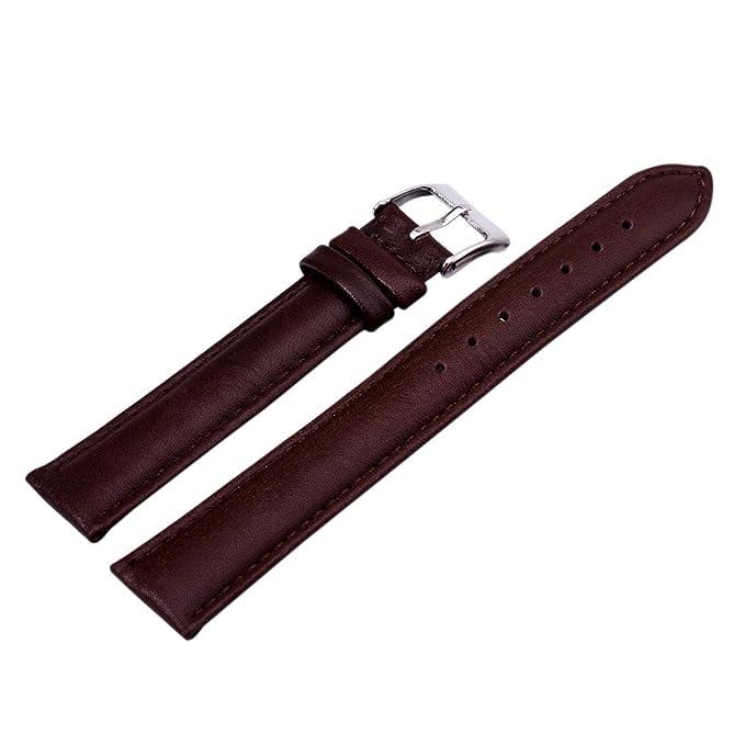 2 opinioni per 12/18/20/22/24mm Cinturino Per Orologio Da Polso Unisex Di Pelle PU Colore