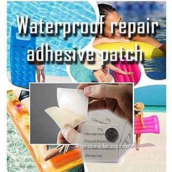 Intex wet vinyl plastic repair patch 6 count toys games for Boxer 4 oz vinyl swimming pool liner repair kit