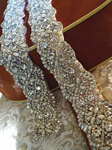 pearl rhinestone bridal crystal applique