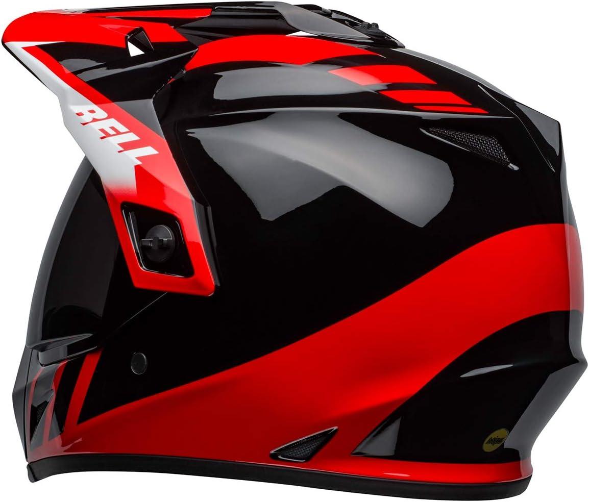 Dash Gloss Black//Red - Small Bell MX-9 Adventure MIPS Dirt Helmet