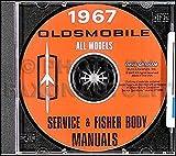 1967 Oldsmobile CD-ROM Repair Shop Manual & Body Manual
