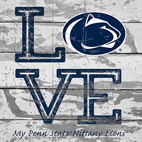 - Prints Charming College Love My Team Logo Square Penn State Nittany Lions Unframed Poster 13x13 Inches