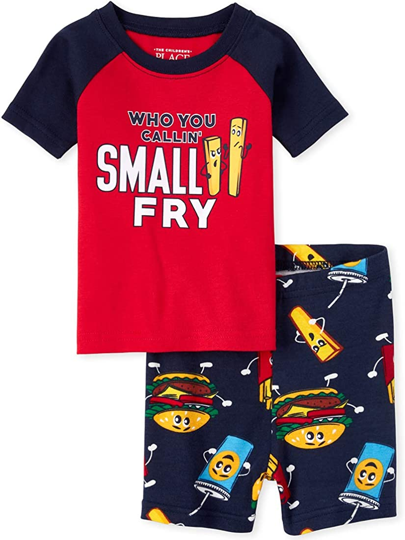 The Childrens Place Baby Boys Sleeve Pajama Short Set