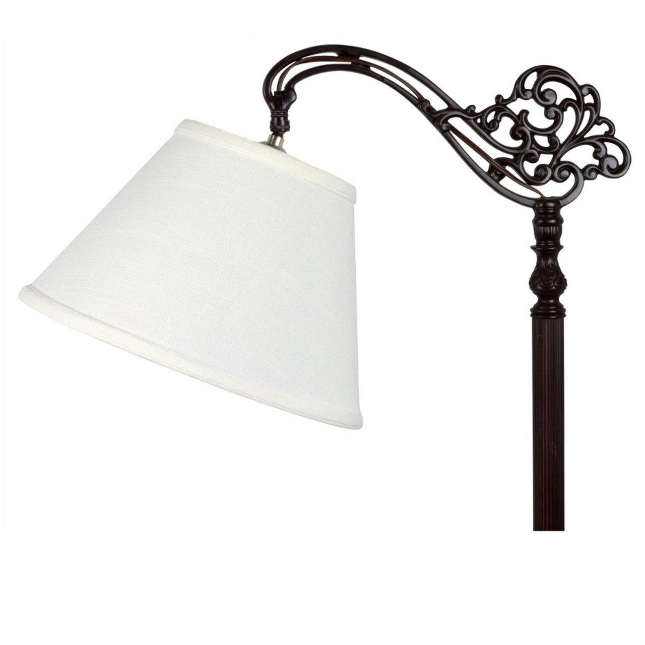 Upgradelights White Linen 10 Inch Uno Floor Lampshade Replacement (4x10x7)      Amazon.com