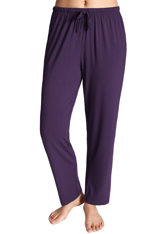 Eggplant Latuza Women's Knit Loungewear Pajama Pants