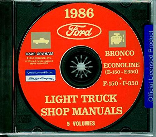 A MUST FOR OWNERS, MECHANICS & RESTORERS - THE 1986 FORD PICK-UP, BRONCO & LIGHT TRUCKS F150 F250 F350 Factory Repair Shop & Service Manual CD INCLUDES: 4 x 2 and 4 x 4