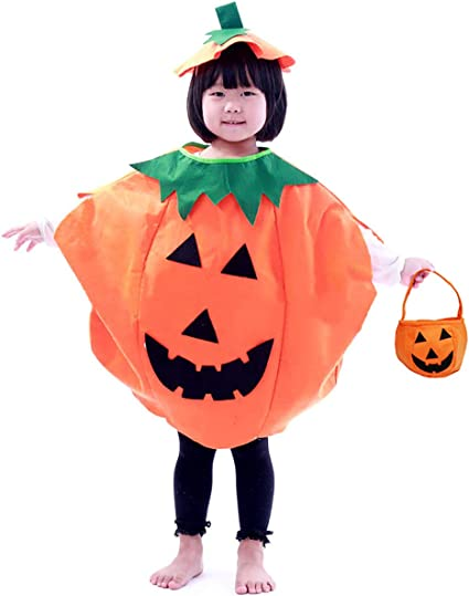 Amazon.com: Halloween 3 piezas Disfraz de calabaza para ...