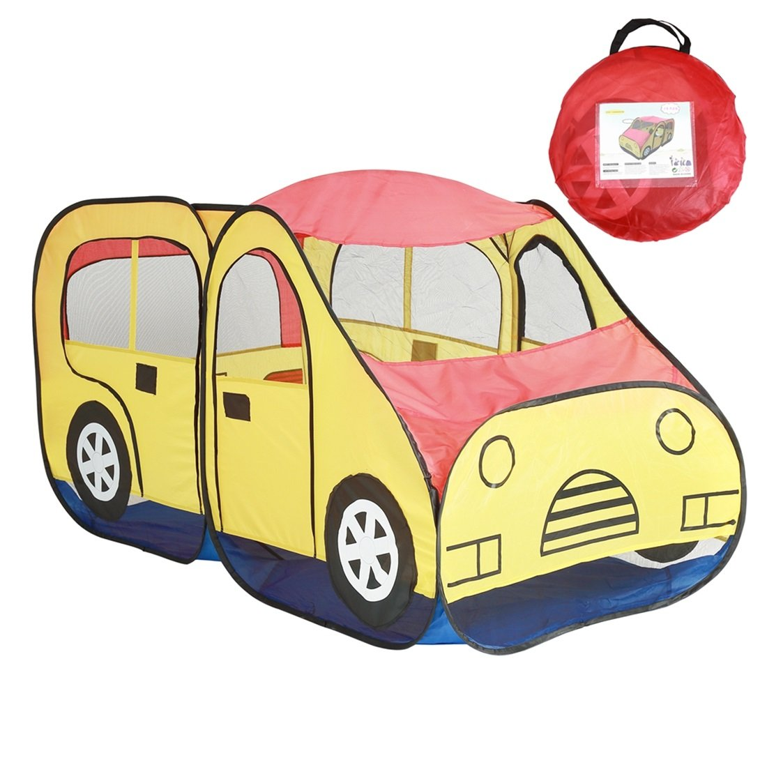 JESSIEKERVIN Carpas para niños Car Indoor Game Toy House Ball Pool Pool Boys and Girls Portable Large House (Color : Car)