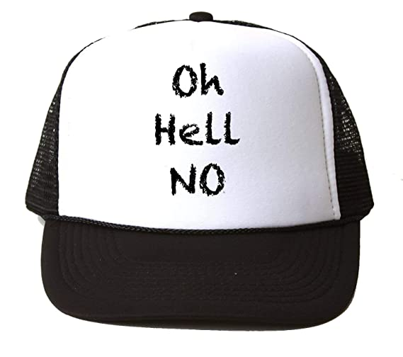 KRISSY Oh Hell No Baseball Cap Hat Gorra Unisex One Size: Amazon ...