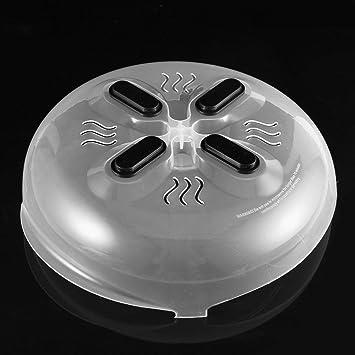 Practical Microwave Food Proof Lid Steam Vent Splash Plate Dish Cover Kitchen ne