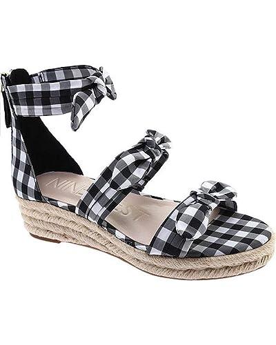 6ed729d7e1 Amazon.com | Nine West Women's Allegro Leather Wedge Sandal | Platforms &  Wedges