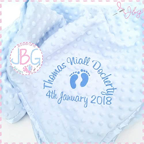 0d9dbd447 Luxury Personalised blue bubble Baby Blanket,baby boys blanket, Baby Gift,  Christening/Baby shower gift: Amazon.co.uk: Handmade