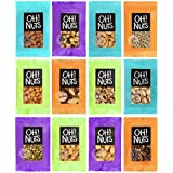 Mixed Nuts and Seeds 12 Variety Snack Bags, Freshly Roasted Snack Serving Size Grab and Go Pack - Oh! Nuts