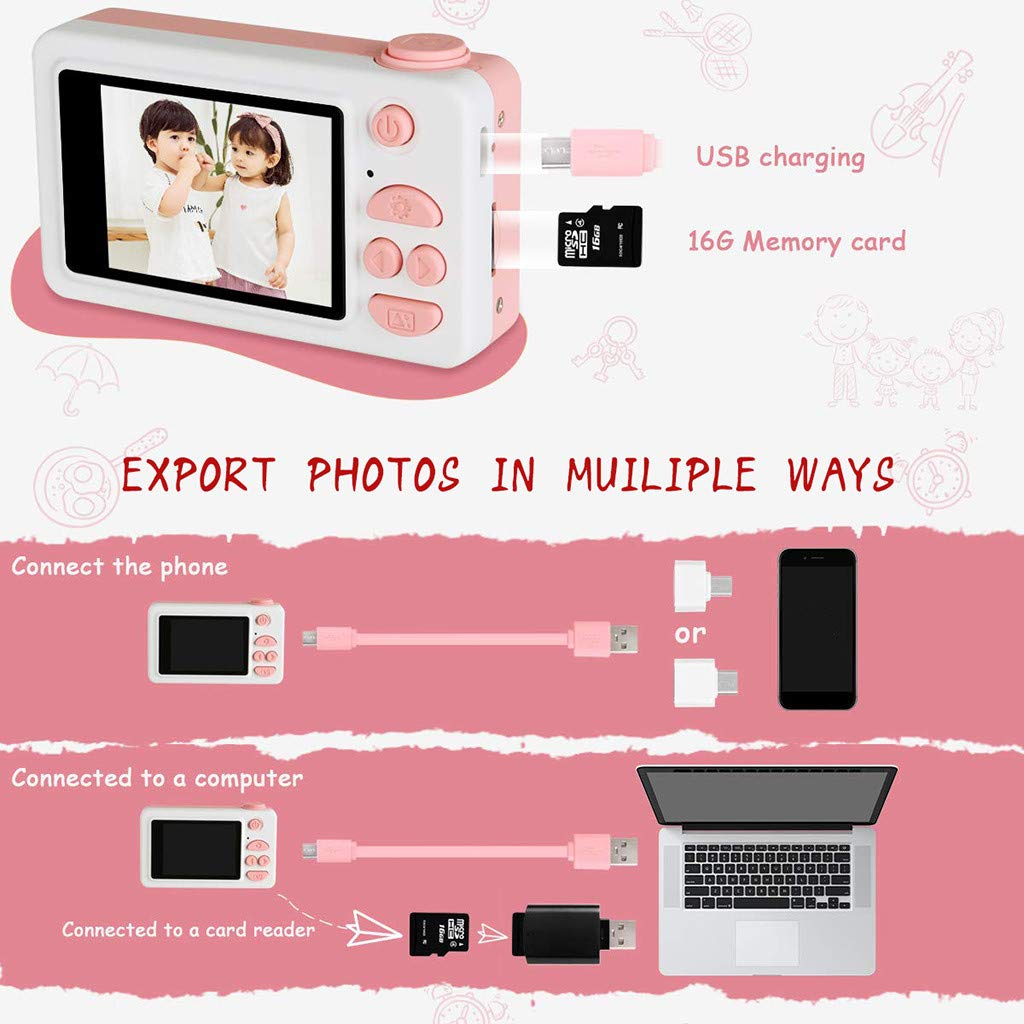 Sdoveb Kids Camera Gifts for Girls 2 IPS Screen Mini Child Video Camera Camcorder (Multicolor) by Sdoveb (Image #3)