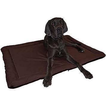 Cama para perros resistente al agua apta para interior y exterior alfombrilla para perros en color negro Größe XL 95 x 64 cm Braun - Rückseite Braun: ...