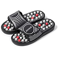 BYRIVER Compact Portable Foot Massager Acupuncture Massage Slippers Flip Flops Deep Tissue, Relief Neuropathy Arthritis…