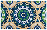 Waverly WGT20 Greetings Solar Flair Patchwork/Bohemian Navy Doormat 1'6'' x 2'4''
