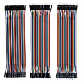 RGBZONE 120pcs Multicolored Dupont Wire 40pin Male to Female, 40pin Male to Male, 40pin Female to Female Breadboard Jumper Wires Ribbon Cables Kit for Arduino and Raspberry Pi