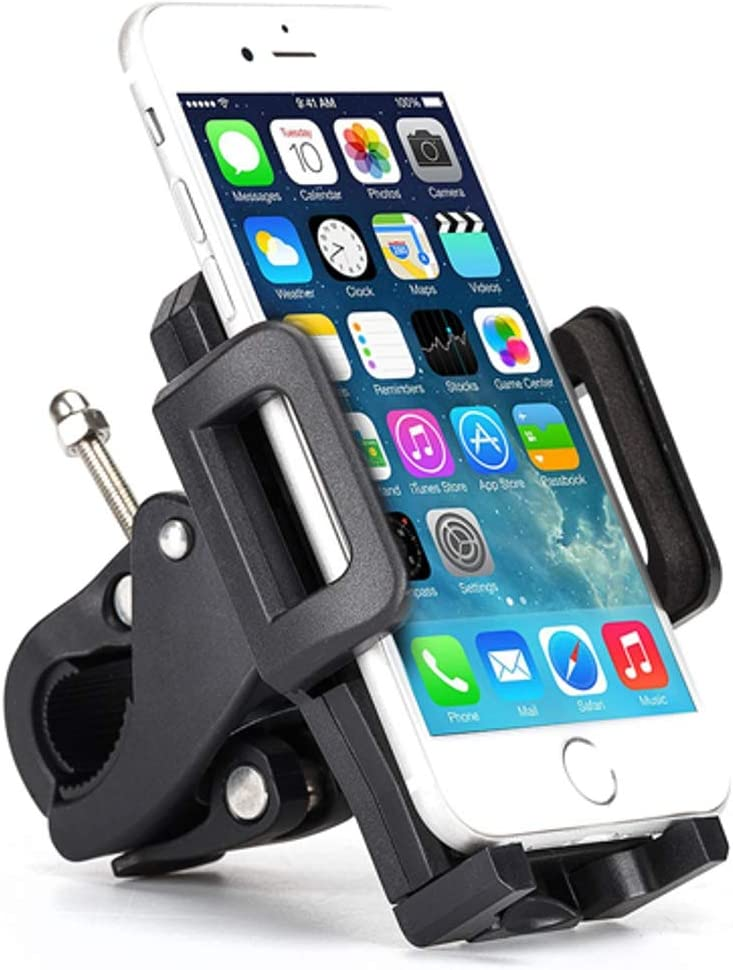 2017 V Nokia 3.1 Plus Samsung Galaxy Sky S10e S10+ S10 J7 Sky Pro Bicycle Mount Bike Handlebar Phone Holder Swivel Cradle Rotating Dock P1Z Compatible with Motorola Moto G7 Power Play