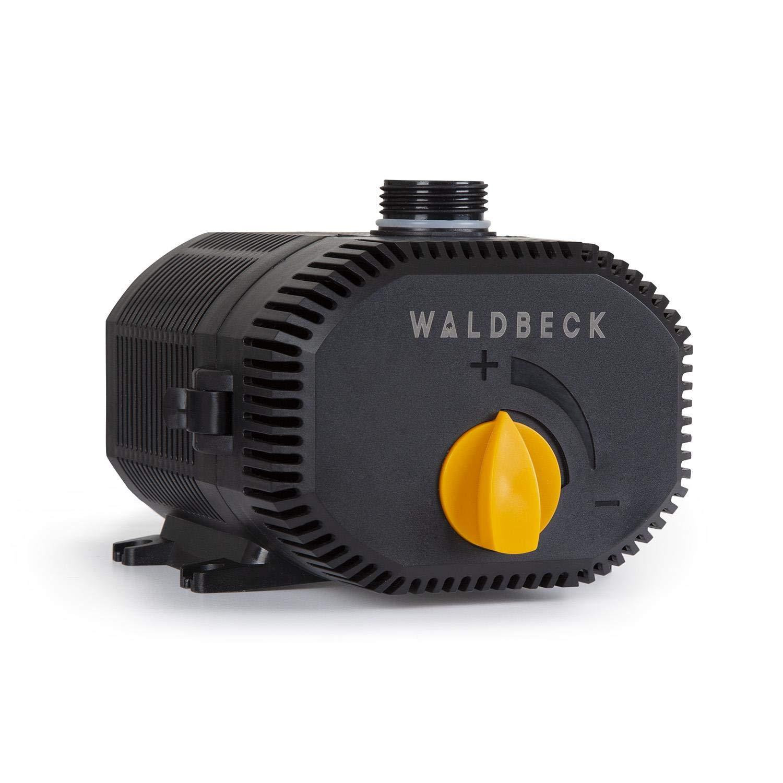 Waldbeck Nemesis T35 Pompe de bassin fiche de contact de protection pour usage en ext/érieur 35W c/âble 10m d/ébit 2300 l//h raccordements : 3//4 et 1 indice de protection IPX8 hauteur max.: 2m