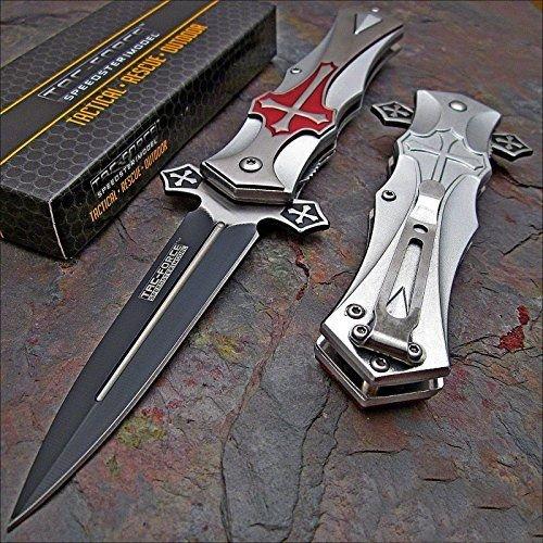 tac-force-red-cross-folding-blade-pocket-knife
