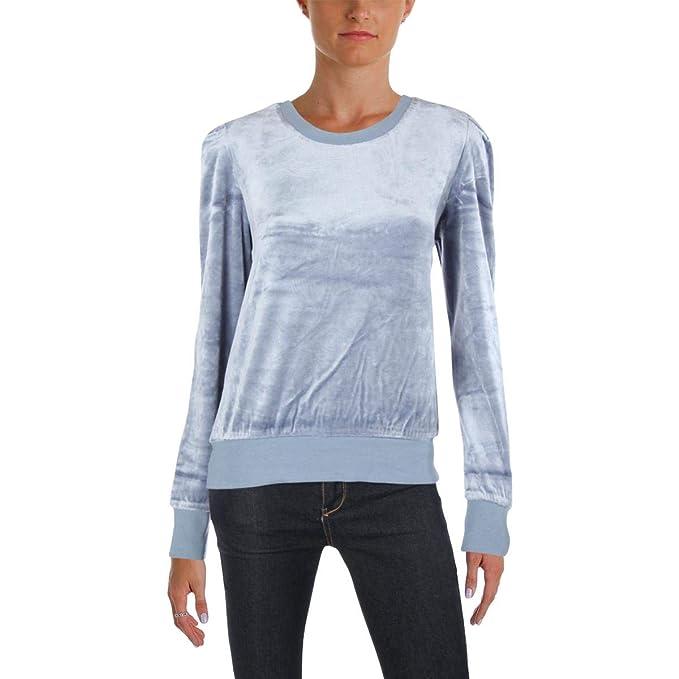 a9708fa421f0 Juicy Couture Black Label Womens Velour Lightweight Sweatshirt Blue XS