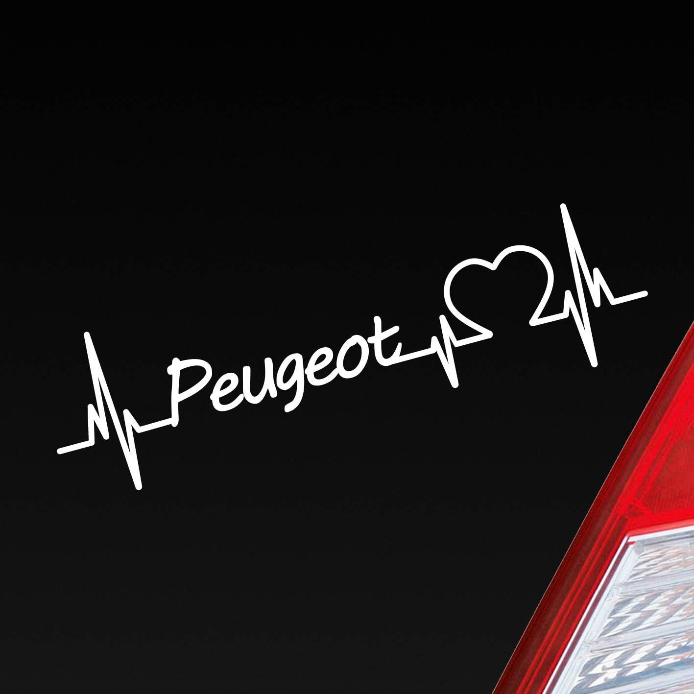 Auto Aufkleber In Deiner Wunschfarbe Peugeot Herz Puls Automarke Marke Car Sticker Liebe Love Ca 19 X 6 Cm Autoaufkleber Sticker Auto