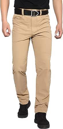 Hiauspor Men's Hiking Pants Outdoor Lightweight Quick Dry Pant for Travel Camping Fishing