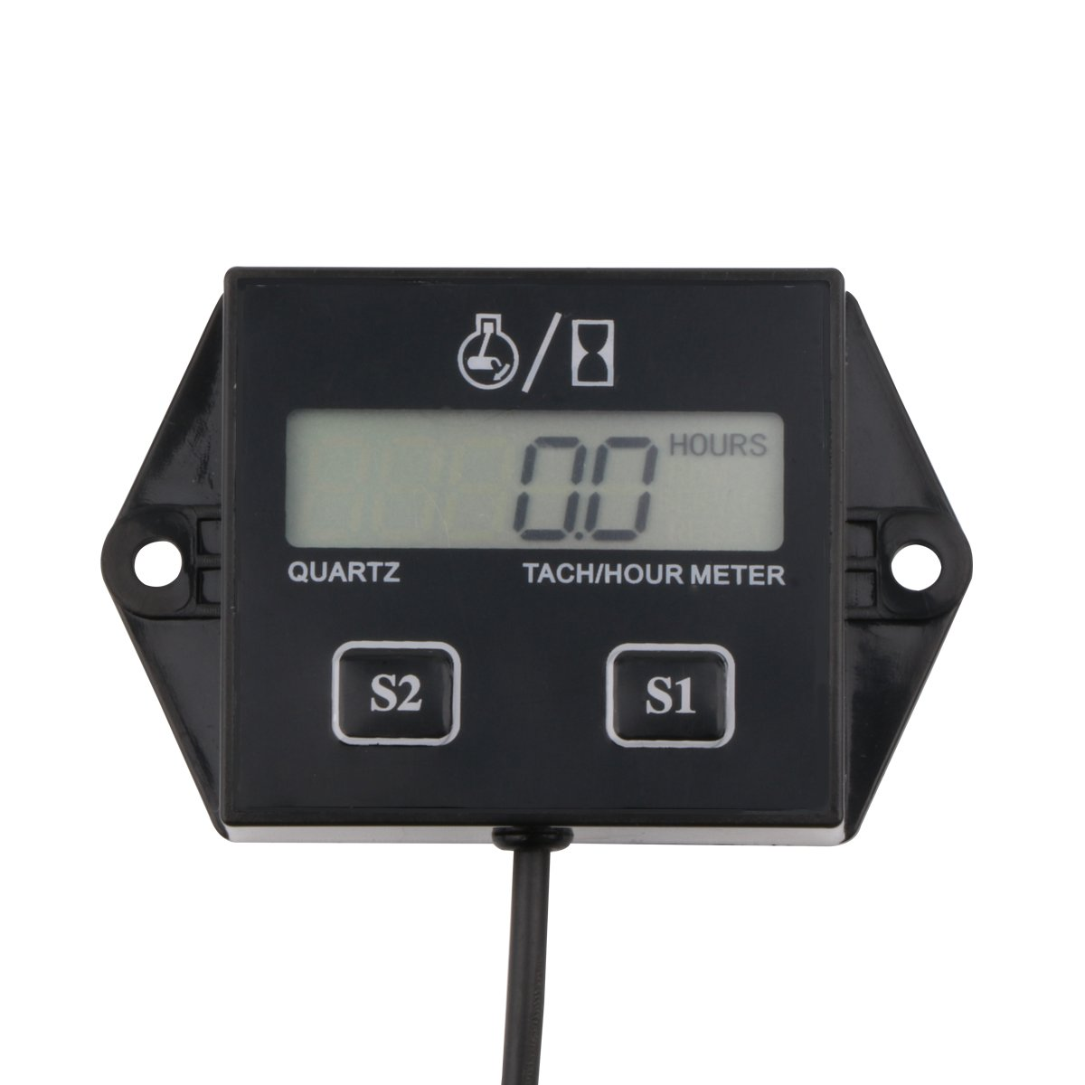 AIMILAR Digital Engine Tach Hour Meter Tachometer Gauge for Small Engine Boat Generator Lawn Mower Chainsaw Outboard Motorcycle Motocross ATV Snowmobile UTV (Non-replaceable Battery without Backlight) BY1045