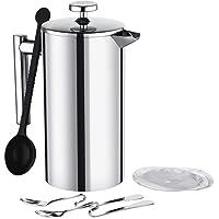 Homitt guter Frühstücksassistent Milchaufschäumer und French Press Kaffee