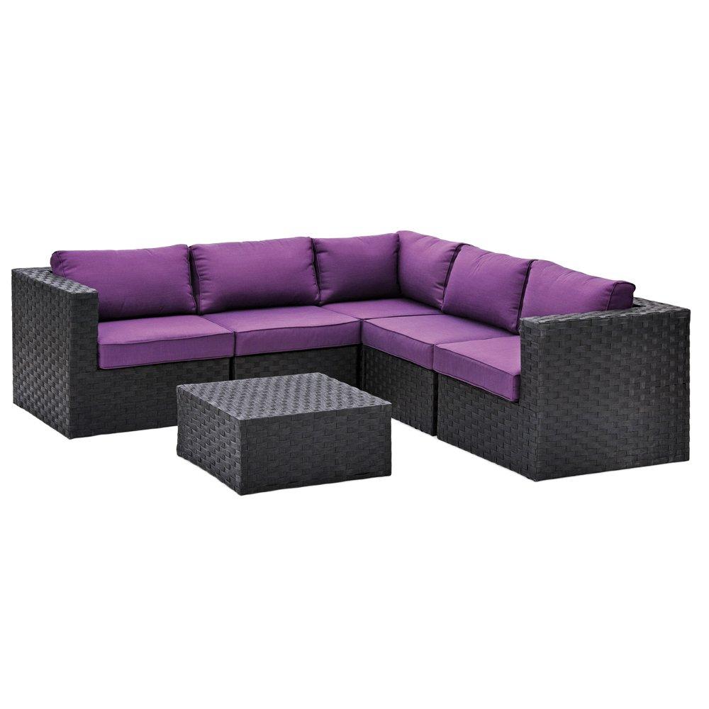 Belardo Lounge-Set Diamina 6-teilig inkl. Sitz- und Rückenkissen