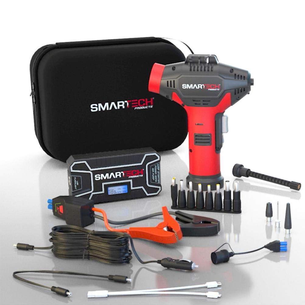 Smartech Power Kit Automotive Emergency Kit - Restart Cars, Pump Up Tires, Charge Electronics