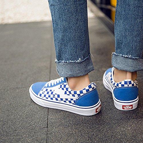 Zapatos Cordones para Azul Suela con con Hombres Verano Cordones Goma Casual Planas Zapatos Zapatos con de Deportivos 2018 Deportivos Otoño fqzXxwOSf