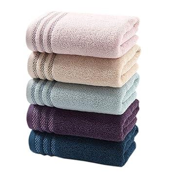 Toalla de algodón Adulto Lavado Suave Hogar Absorbente algodón Hombres y Mujeres Toalla Respirable Cinco Cargado: Amazon.es: Hogar